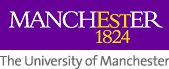 Logo of The University of Manchester, established 1824.
